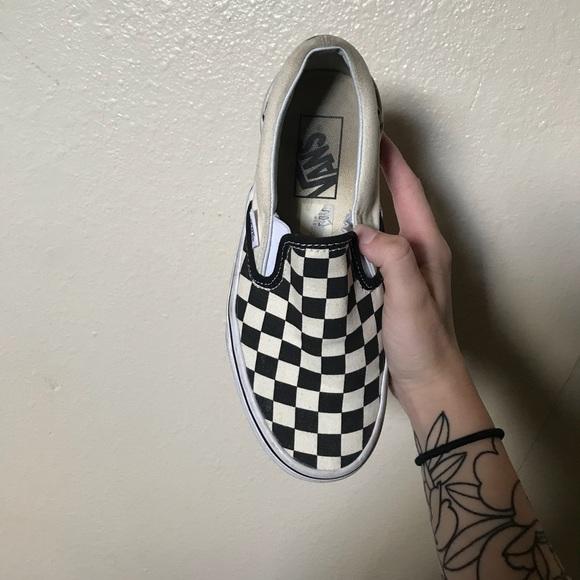 Vans Shoes   Vans Checkerboard Slipons
